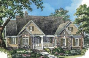 Illustration of Hardesty house plan