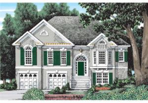 Illustration of Tapeka house plan