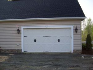 White doors of the garage