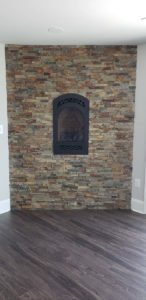 Brick wall inside of home