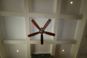Dark brown ceiling fan