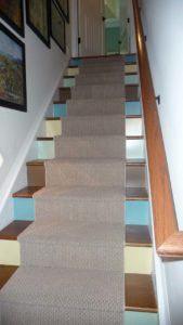 Stairway with carpet