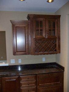 Wooden hanging kitchen cabinet