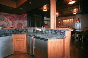 Bar kitchen table in the basement