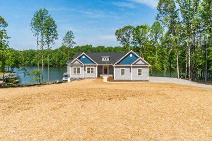 Far View of a house near lake