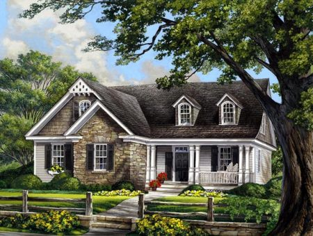 Illustration of lifestyle series house plan